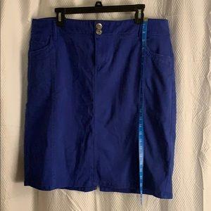 Cute royal blue denim midi skirt